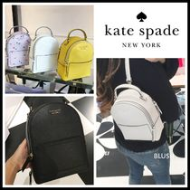 kate spade new york Flower Patterns Casual Style 3WAY Plain Leather Crossbody