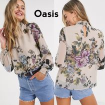 Oasis Flower Patterns Casual Style Long Sleeves Medium