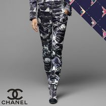 CHANEL Casual Style Cotton Long Party Style Home Party Ideas