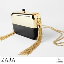 ZARA 2WAY Plain Party Style Elegant Style Crossbody Party Bags