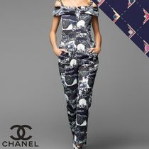 CHANEL Dungarees Casual Style Sleeveless Long Party Style