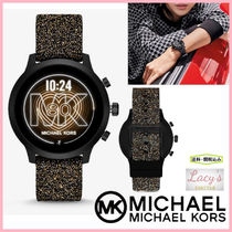 Michael Kors Casual Style Blended Fabrics Street Style Silicon Round