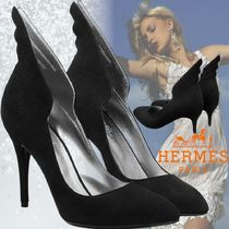 HERMES Casual Style Suede Street Style Plain Leather Party Style