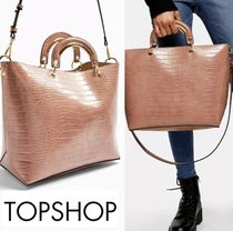 TOPSHOP Casual Style Faux Fur Street Style 2WAY Plain Office Style