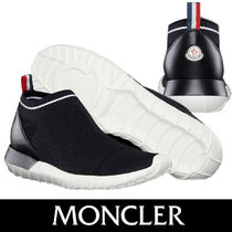 MONCLER Round Toe Rubber Sole Casual Style Blended Fabrics