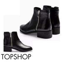TOPSHOP Platform Casual Style Street Style Plain Leather