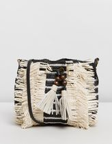 TIGERLILY Stripes Casual Style Shoulder Bags