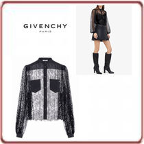 GIVENCHY Casual Style Long Sleeves Elegant Style Shirts & Blouses