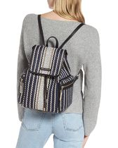 TED BAKER Stripes Casual Style Logo Backpacks