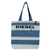 DIESEL Stripes Denim Logo Totes