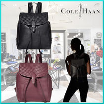 Cole Haan Casual Style Plain Leather Office Style Backpacks