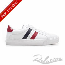 MONCLER Stripes Round Toe Rubber Sole Lace-up Casual Style