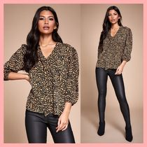Lipsy Leopard Patterns Cropped Medium Party Style Shirts & Blouses
