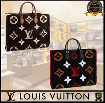 Louis Vuitton MONOGRAM Flower Patterns Monogram Casual Style A4 2WAY Leather