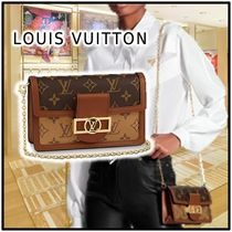 Louis Vuitton 2020 SS DAUPHINE CHAIN WALLET brown more wallets&cardholders