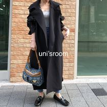 Plain Long Oversized Elegant Style Co-ord Trench Coats