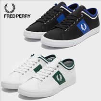 FRED PERRY Unisex Faux Fur Street Style Sneakers
