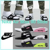 Nike AIR MAX 90 Street Style Plain Shower Shoes Logo Shower Sandals