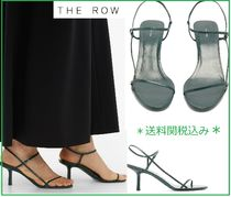 The Row Open Toe Casual Style Plain Leather Elegant Style