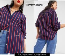 Tommy Hilfiger Stripes Casual Style Unisex Street Style Cotton Office Style