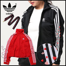 adidas Stripes Heart Casual Style Street Style Long Sleeves Medium