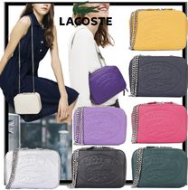 LACOSTE Casual Style Leather Shoulder Bags