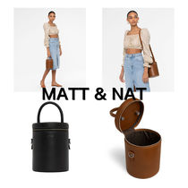 MATT&NAT Casual Style Nylon 2WAY Plain Handbags