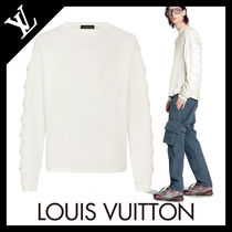 Louis Vuitton Crew Neck Long Sleeves Plain Cotton Long Sleeve T-shirt Logo