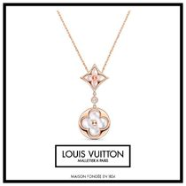 Louis Vuitton Costume Jewelry Casual Style Unisex Blended Fabrics Flower