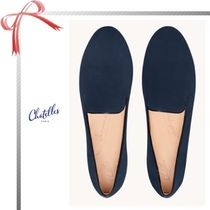 Chatelles Casual Style Suede Plain Flats