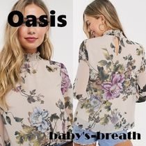 Oasis Flower Patterns Casual Style Long Sleeves Shirts & Blouses