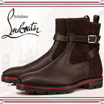 Christian Louboutin Straight Tip Plain Leather Engineer Boots