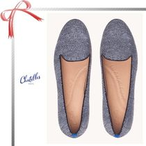 Chatelles Dots Casual Style Suede Flats