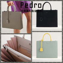 Pedro Casual Style Faux Fur 2WAY Office Style Elegant Style