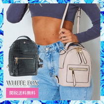 WHITE FOX Casual Style Faux Fur Street Style 2WAY Plain Backpacks