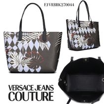 VERSACE JEANS Flower Patterns Casual Style Office Style Elegant Style