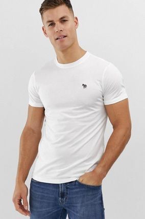 Paul Smith Crew Neck Pullovers Cotton Short Sleeves Logo