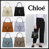 Chloe ABY Casual Style Plain Leather Party Style Office Style