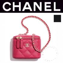 CHANEL MATELASSE Casual Style Calfskin Street Style Vanity Bags 2WAY Chain