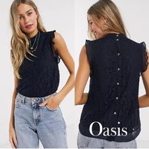 ASOS Flower Patterns Casual Style Sleeveless Plain Cotton Medium