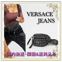 VERSACE JEANS Casual Style Studded Plain Hip Packs