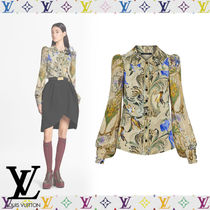 Louis Vuitton Flower Patterns Casual Style Silk Long Sleeves Medium