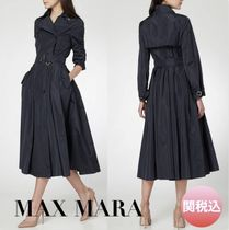 MaxMara Plain Long Elegant Style Trench Coats