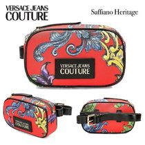 VERSACE JEANS Casual Style Unisex Street Style Elegant Style Hip Packs
