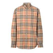 Burberry Other Plaid Patterns Long Sleeves Cotton Shirts