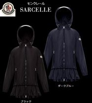 MONCLER SARCELLE Unisex Plain Medium Raincoat Logo Jackets