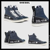 DIESEL Blended Fabrics Leather Sneakers
