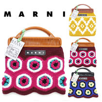 MARNI MARNI MARKET Other Plaid Patterns Flower Patterns Casual Style Unisex