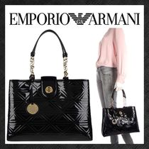 EMPORIO ARMANI Casual Style Faux Fur Chain Plain Party Style Elegant Style