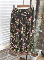 Flared Skirts Flower Patterns Casual Style Street Style